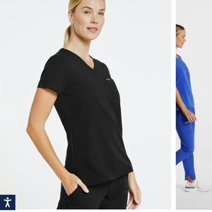 Jaanu Women's 3 pocket V neck scrub top